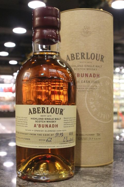 (現貨) Aberlour A'bunadh Batch No.62 亞伯樂 雪莉桶原酒 第62批次 (700ml 59.9% )
