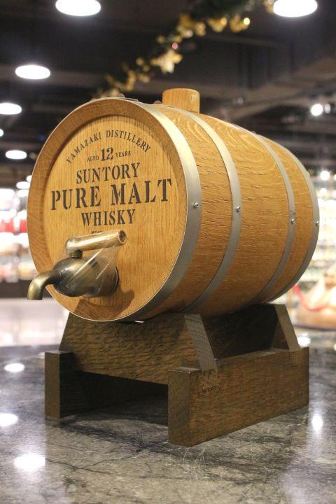 (現貨) Yamazaki 12 Years Pure Malt Barrel Decanter 山崎蒸餾所 12年純麥 木樽型酒桶 (1000ml 58%)