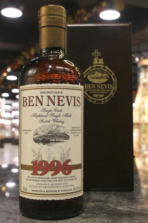(現貨) Ben Nevis 1996 21 Years Single Sherry Cask 班尼富 1996 21年 雪莉單桶原酒 (700ml 46.1%)
