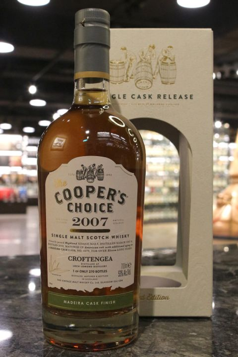 (現貨) Cooper's Choice – Croftengea 2007 11 Years 酷選大師 羅夢湖 2007 馬德拉桶 (700ml 53%)