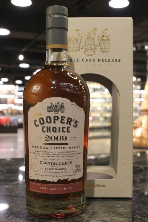 (現貨) Cooper's Choice - Glentauchers 2009 9 Years 酷選大師 格蘭道奇 2009 波特桶 (700ml 55.5%)