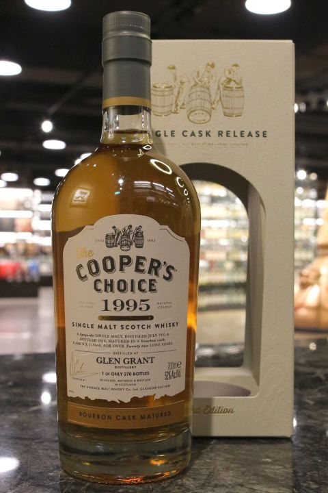 (現貨) Cooper's Choice - Glen Grant 1995 22 Years 酷選大師 格蘭冠 1995波本桶 (700ml 52%)