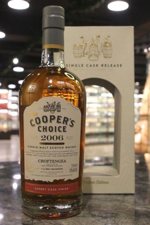 Cooper's Choice - Croftengea 2006 12 Years 酷選大師 羅夢湖 2006 泥煤雪莉桶 (700ml 51%)