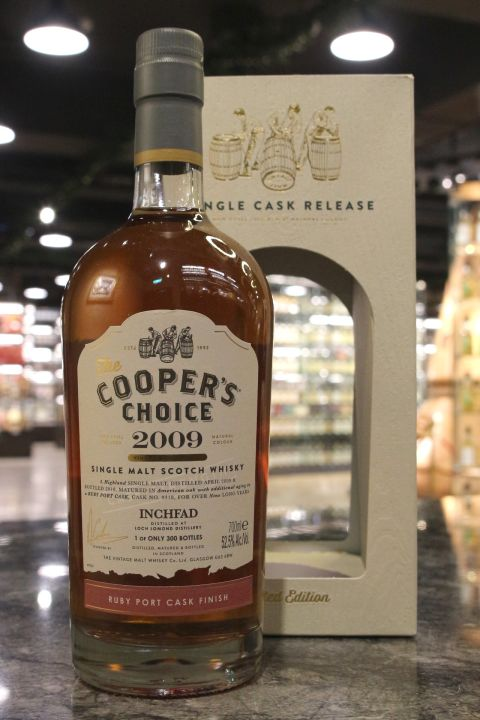 (現貨) Cooper's Choice - Inchfad 2009 9 Years 酷選大師 羅夢湖 2009 紅寶石波特桶 (700ml 52.5%)