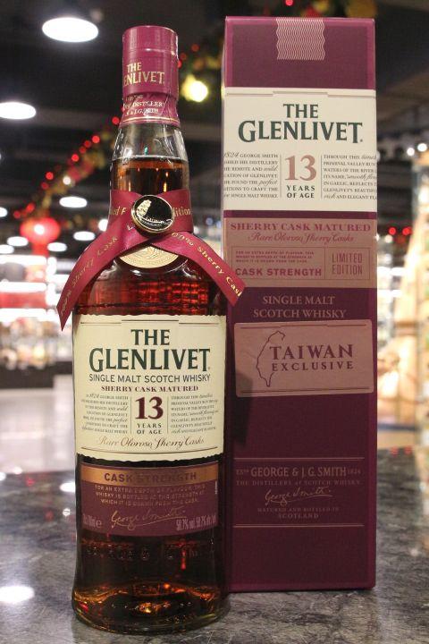 GLENLIVET 13 Years Cask Strength Sherry Cask 格蘭利威 13年 雪莉桶原酒 台灣限定 (700ml 58.7%)
