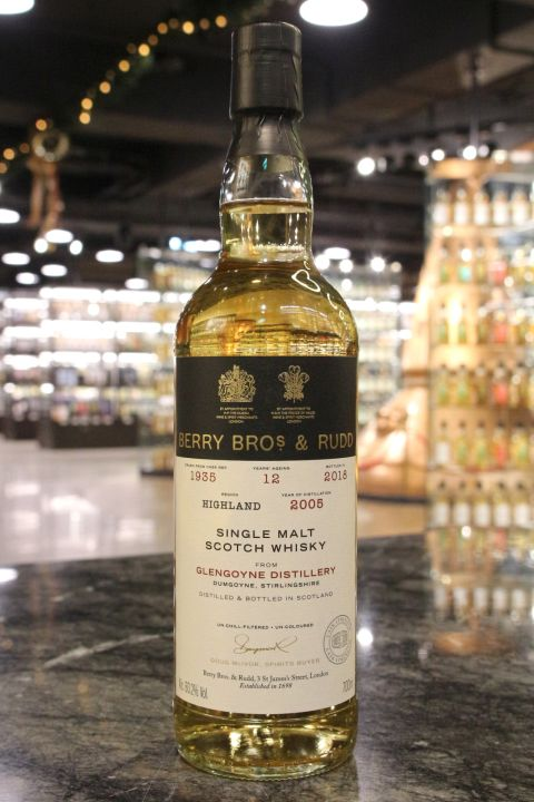 (現貨) BBR – Glengoyne 2005 12 Years Single Cask格蘭哥尼 2005 12年 單桶原酒 (700ml 60.2%)