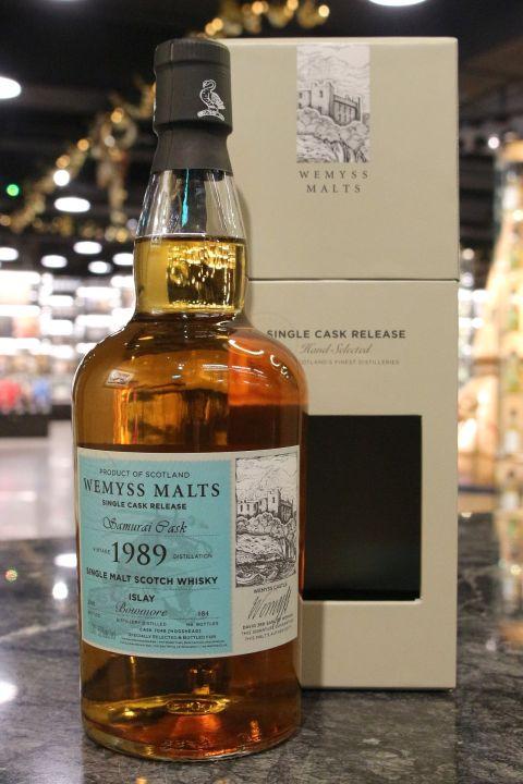 (現貨) Wemyss Malts Samurai Cask Bowmore 1989 威姆斯 波摩 1989 單桶 (700ml 52%)