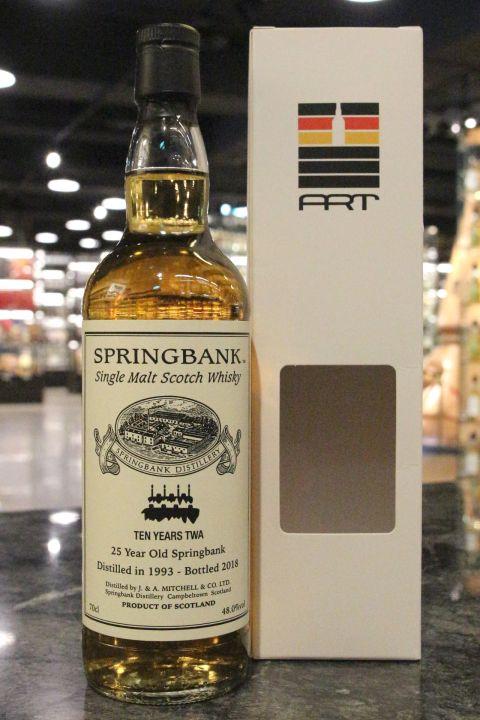 (現貨) Springbank 1993 25 Years - Ten Years TWA 雲頂 1993 25年 TWA十週年紀念 (700ml 48%)