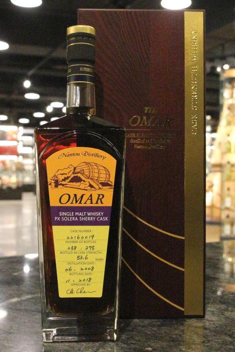 TTL Omar 2008 PX Solera Sherry Cask Single Cask 臺灣菸酒 PX雪莉桶 單桶原酒 (700ml 53.6-54%)