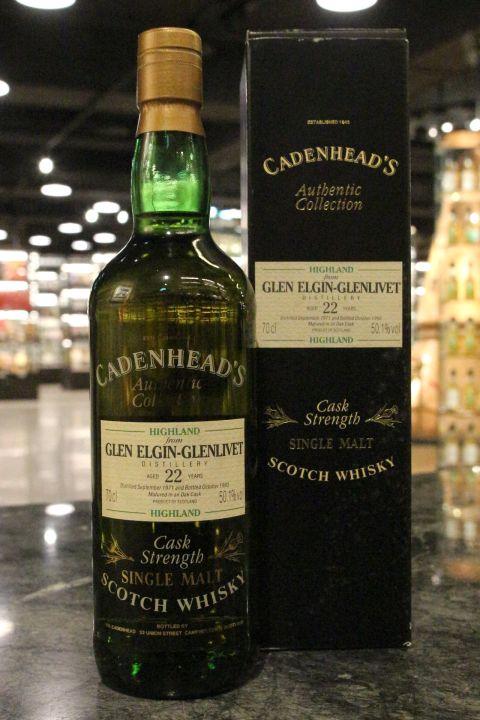 (現貨) CADENHEAD'S Glen Elgin - Glenlivet 22 Years 凱德漢 格蘭愛琴 22年 (700ml 50.1%)