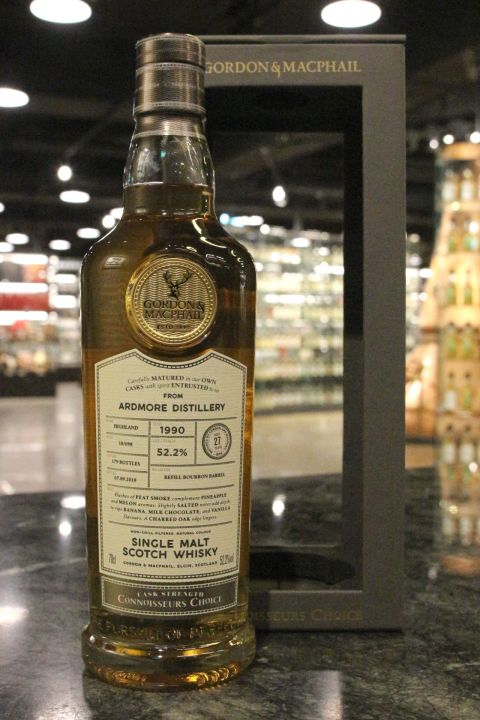 (現貨) G&M -  Ardmore 1990 27 Years Refill Bourbon Barrel 亞德摩爾 1990 27年 波本桶 (700ml 52.2%)