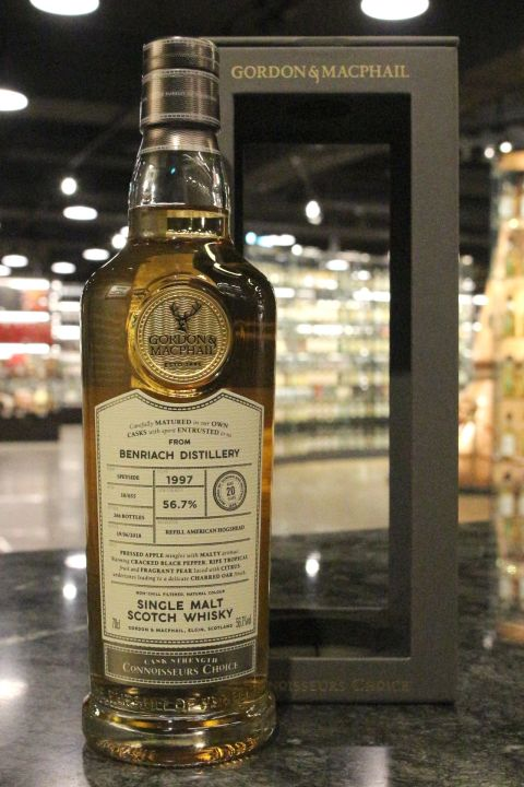 (現貨) G&M - BenRiach 1997 20 Years American Hogshead 班瑞克 1997 豬頭桶 (700ml 56.7%)