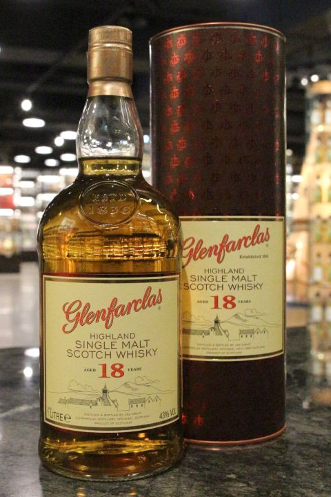 (現貨) Glenfarclas 18 Years Single Malt Whisky 格蘭花格 18年 單一純麥威士忌 (1000ml 43%)