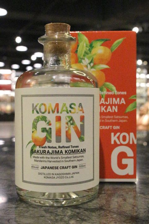 (現貨) Komasa Komikan Japanese Craft Gin 小正 櫻島小蜜柑琴酒 (500ml 45%)