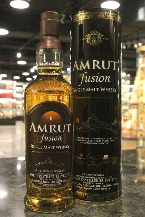 (現貨) Amrut Fusion Finish Single Malt Whisky 雅沐特 融合 新包裝版 (700ml 50%)