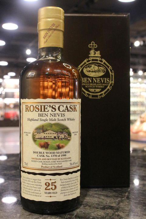(現貨) Ben Nevis 1990 25 Years Double Wood Rosie's Cask 班尼富 1990 25年 單桶 (700ml 62.4%)