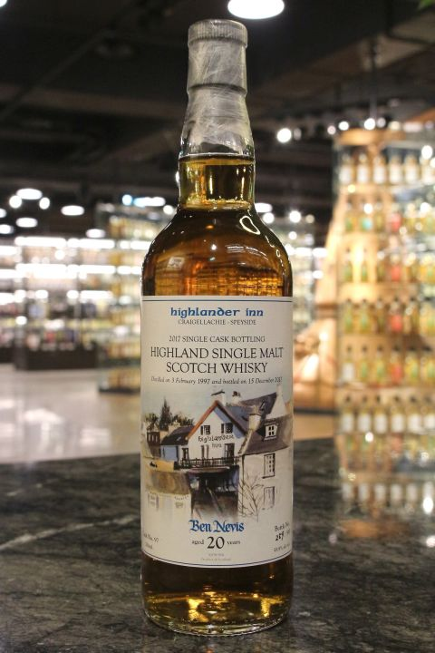 Ben Nevis 1997 20 year Single Cask for Highlander Inn 班尼富1997 20年 高地人小酒館 年度選桶 (700ml 55.9%)