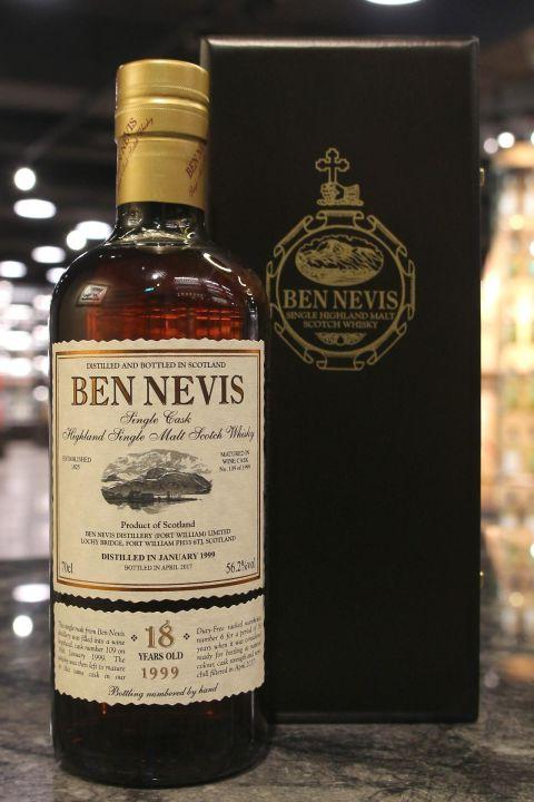 (現貨) Ben Nevis 1999 18 Years Wine Cask 班尼富1999 18年 紅酒桶 單桶 (700ml 56.2%)