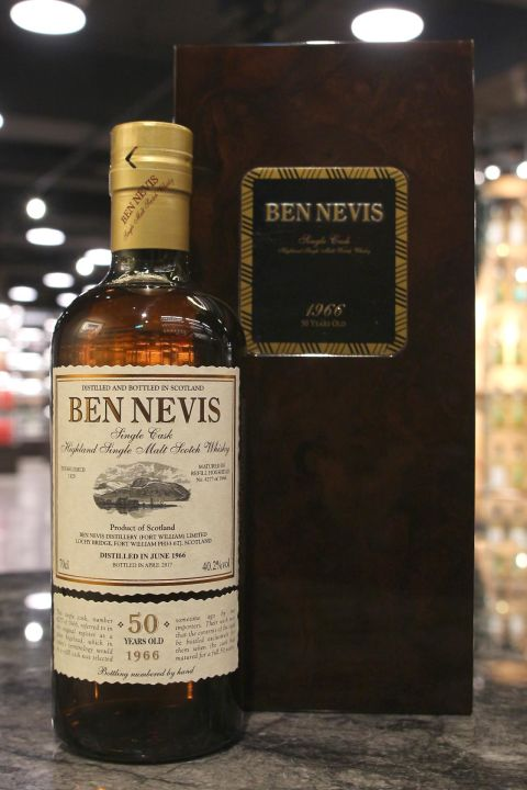 (現貨) Ben Nevis 1966 50 Years Single Cask 班尼富1966 50年 單桶 (700ml 40.2%)