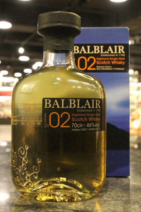 Balblair 2002~2012 1st Release 巴布萊爾 2002 第一版 (700ml 46%)