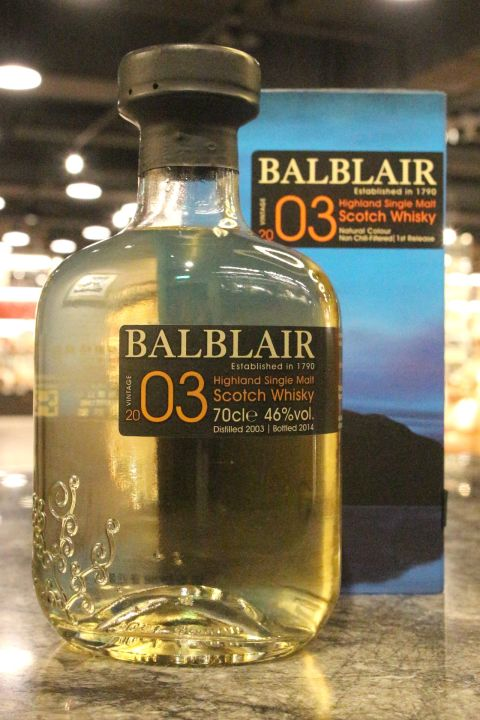 Balblair 2003~2014 1st Release 巴布萊爾 2003 第一版 (700ml 46%)