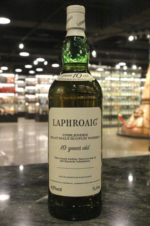 (現貨) LAPHROAIG 10 Years Unblended Bottled 1980s 拉佛格 10年 1980年代裝瓶 (750ml 46%)
