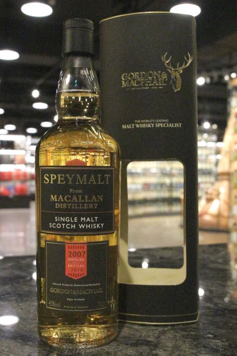 (現貨) G&M - Speymalt - Macallan 2007 Vintage Bottled 2016 麥卡倫 2007 (700ml 43%)
