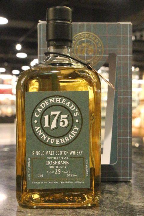 (現貨) Rosebank 1991 25 Years - Cadenhead's  凱德漢 玫瑰河畔 1991 25年 原酒 (700ml 50.5%)