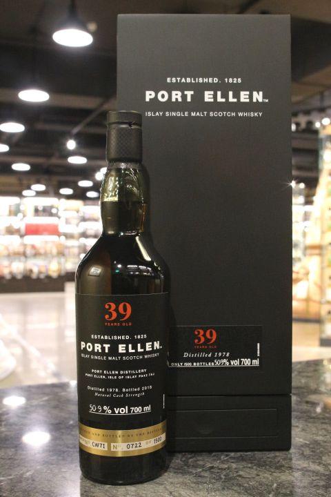 Port Ellen 1978 39 Years Cask Strength 波特艾倫 1978 39年原酒 (700ml 50.9%)