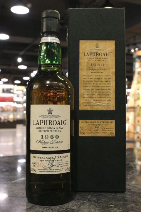 (現貨) Laphroaig 1960 Vintage Reserve Cask Strength 拉佛格 1960 原酒 (700ml 42.4%)