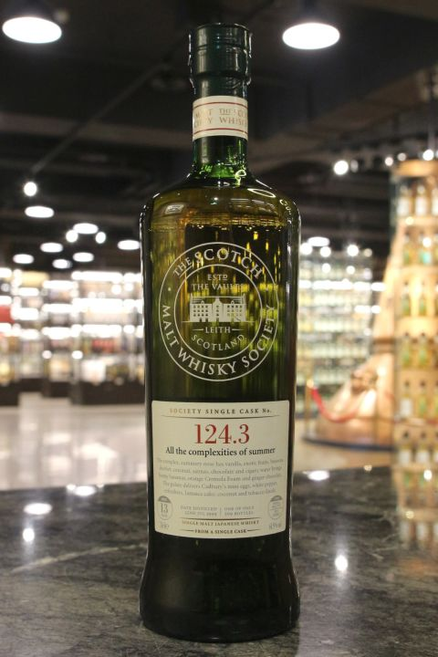 (現貨) SMWS 124.3 Miyagikyo 13 years 宮城峽 單桶原酒 13年 蘇格蘭威士忌協會 (700ml 61.9%)