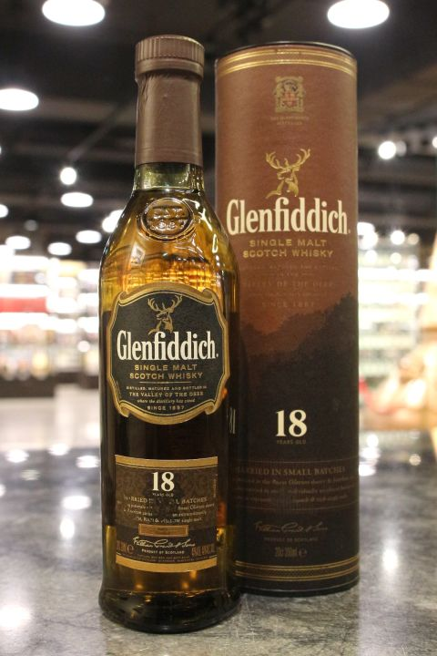 (現貨) Glenfiddich 18 Years Single Malt Whisky 格蘭菲迪 18年 中樣酒 (200ml 40%)