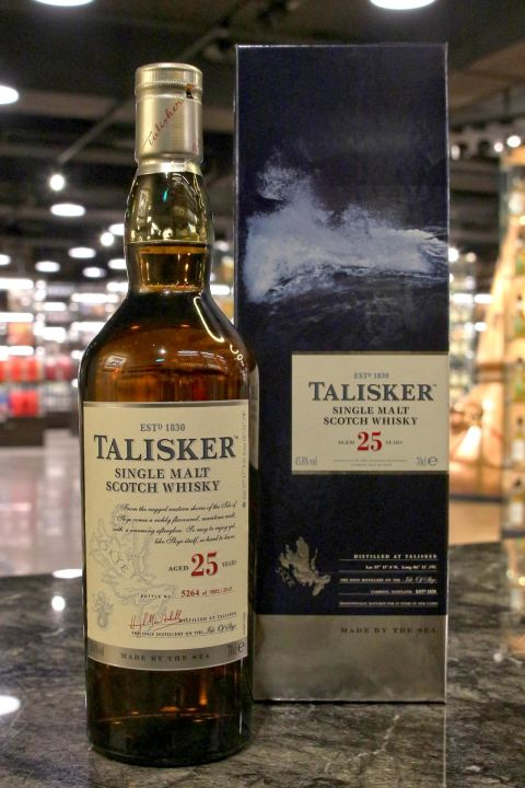 (現貨) TALISKER 25 years Bottled 2015 大力斯可 25年 2015年版 (700ml 45.8%)