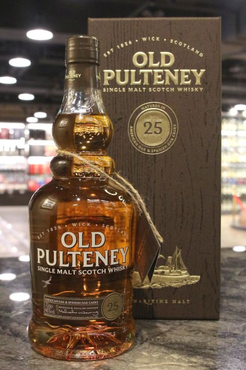 (現貨) Old Pulteney 25 Years American Oak & Spanish Oak Casks 富特尼 25年 (700ml 46%)