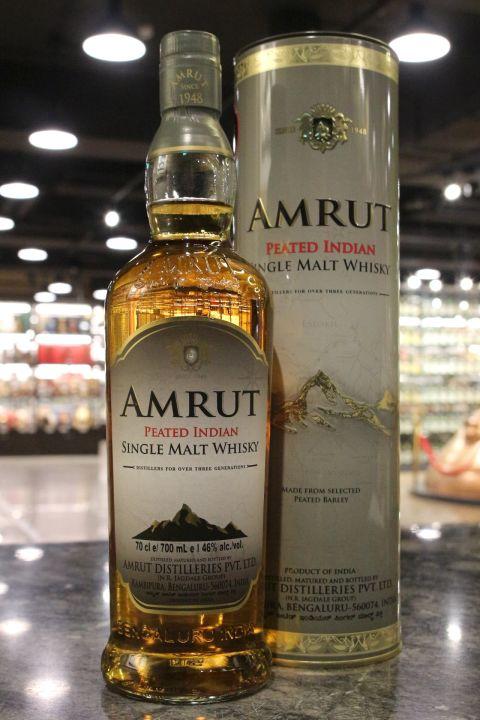 (現貨) Amrut Peated Single Malt Whisky 雅沐特 泥煤 單一麥芽威士忌 新包裝 (700ml 46%)