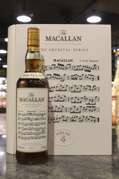 (現貨) Macallan The Archival Series Folio 4 麥卡倫 檔案系列 書冊4 (700ml 43%)