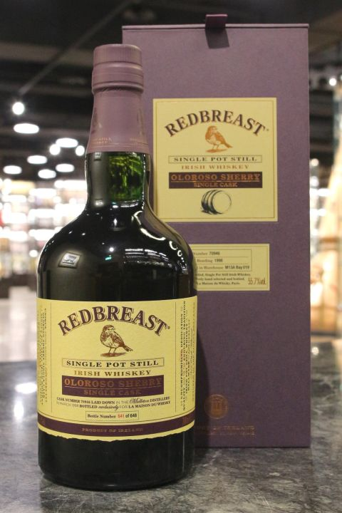 (現貨) Redbreast 1998 Oloroso Sherry Single Cask Irish Whiskey 知更鳥 雪莉單桶 愛爾蘭威士忌 (700ml 55.7%)