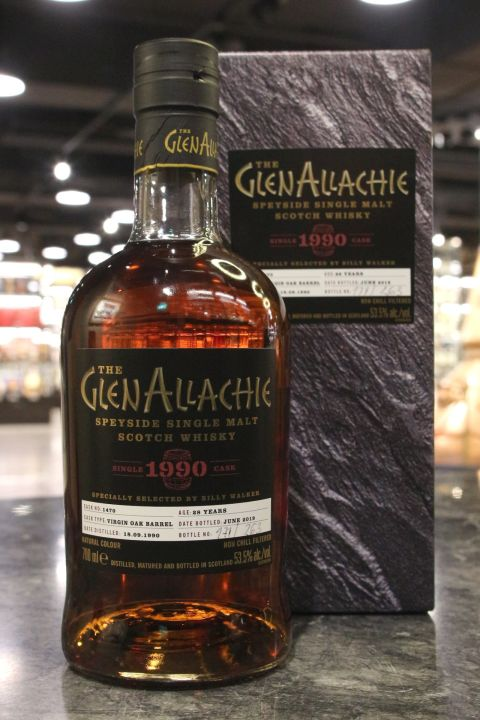 (現貨) GlenAllachie 1990 28 Years Virgin Oak Barrel 艾樂奇 1990 28年 精選單桶原酒 (700ml 53.5%)