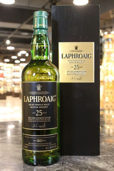 (現貨) LAPHROAIG 25 Years 2015 Cask Strength Edition 拉佛格 25年原酒 2015版 (700ml 46.8%)