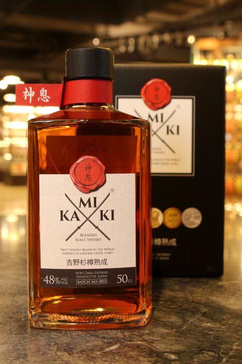 (現貨) Kamiki Blended Malt Whisky Batch: 003 神息 吉野杉樽熟成 調和麥芽威士忌 (500ml 48%)