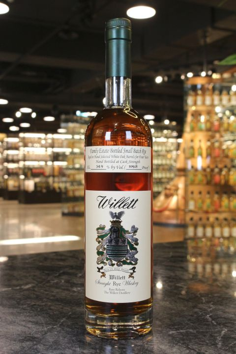(現貨) Willett Family Estate 4 Years Rye Whiskey 威列特 4年 裸麥威士忌 (750ml 54.9%)