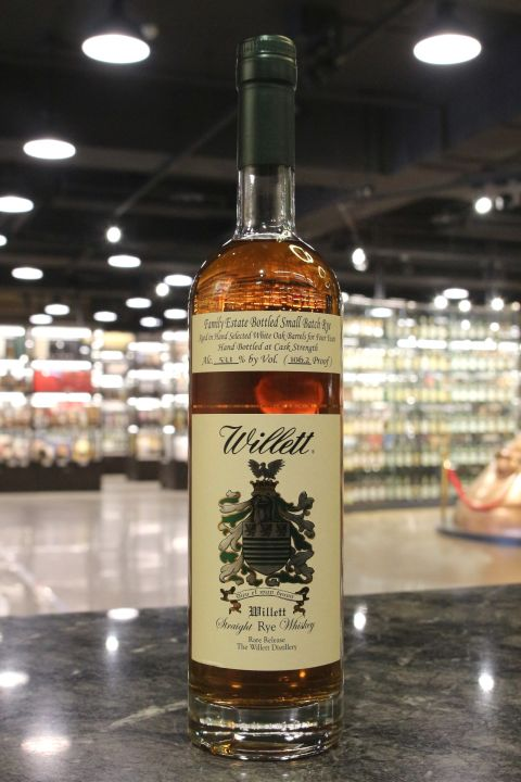 (現貨) Willett Family Estate 4 Years Rye Whiskey 威列特 4年 裸麥威士忌 (750ml 53.1%)