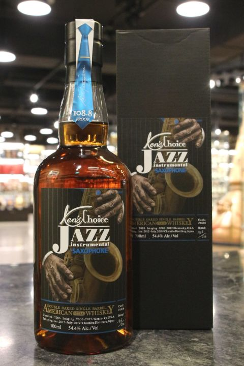 (現貨) Chichibu Ken's Choice JAZZ - Saxophone 秩父 Ken's Bar 爵士樂系列 薩克斯風 (700ml 54.4% )