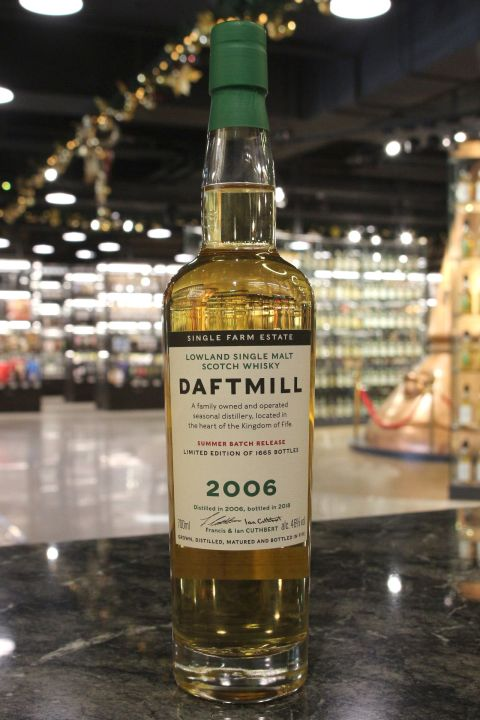Daftmill 2006~2018 Summer Batch Release 德夫磨坊 2006 夏季批次版 (700ml 46%)