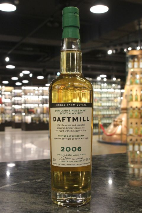 Daftmill 2006~2018 Winter Batch Release 德夫磨坊 2006 冬季批次版 (700ml 46%)