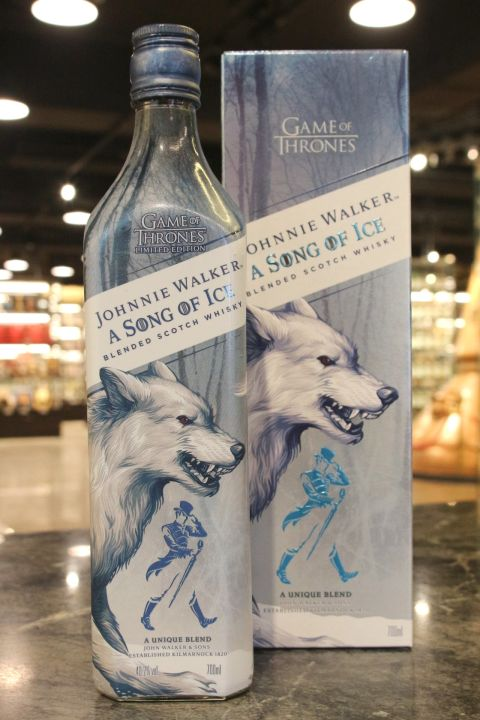 (現貨) Johnnie Walker Game of Thrones - A Song of Ice 約翰走路 冰與火之歌限定版 冰原狼 (700ml 40.2%)