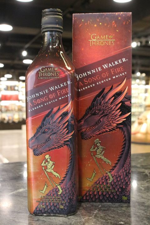 (現貨) Johnnie Walker Game of Thrones - A Song of Fire 約翰走路 冰與火之歌限定版 火龍 (700ml 40.8%)