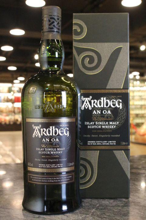 (現貨) Ardbeg AN OA 雅柏 AN OA 單一純麥威士忌 (1000ml 46.6%)