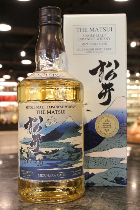 (現貨) The Matsui Mizunara Cask Single Malt Whisky 松井 水楢桶 單一麥芽威士忌 (700ml 48%)