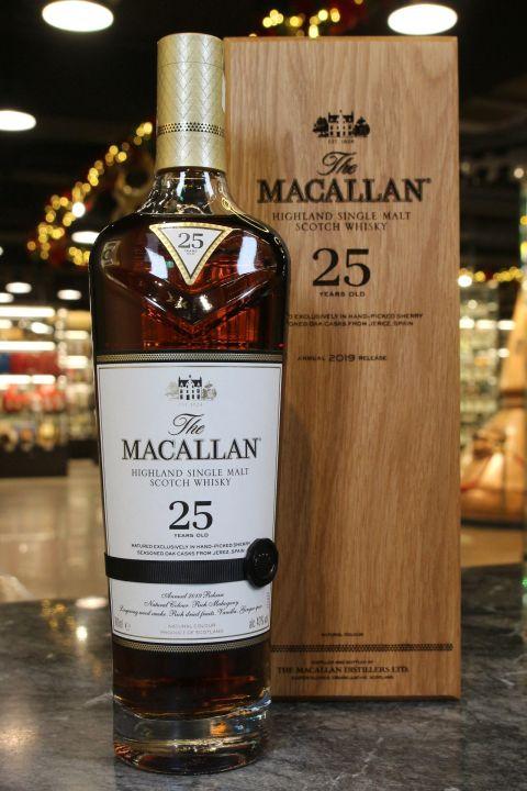 (現貨) Macallan 25 Years 2019 Release 麥卡倫 25年 2019版 (700ml 43%)